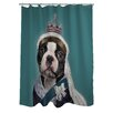 One Bella Casa Pets Rock Queen Polyester Shower Curtain