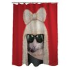 One Bella Casa Pets Rock GG Polyester Shower Curtain