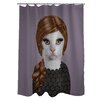 One Bella Casa Pets Rock Songbird Polyester Shower Curtain