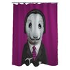 One Bella Casa Pets Rock Surreal Polyester Shower Curtain