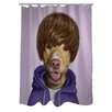 One Bella Casa Pets Rock Teen Polyester Shower Curtain