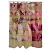 One Bella Casa Oliver Gal Field of Roses Polyester Shower Curtain