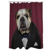One Bella Casa Pets Rock Leader Polyester Shower Curtain