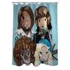 One Bella Casa Pets Rock Waterloo Polyester Shower Curtain