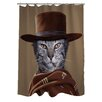 One Bella Casa Pets Rock Western Polyester Shower Curtain