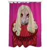One Bella Casa Pets Rock Poker Polyester Shower Curtain