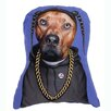 One Bella Casa Pets Rock Rap Shaped Pillow