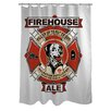 One Bella Casa Doggy Decor Firehouse Ale Polyester Shower Curtain