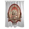 One Bella Casa Doggy Decor Labby Polyester Shower Curtain