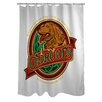 One Bella Casa Doggy Decor Odrools Polyester Shower Curtain