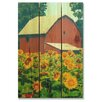 Gizaun Art Sunflower Barn  Full Color Cedar Wall Art