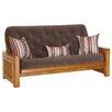 Big Tree Furniture Nina Futon Frame and Mattress with 3 Pillows