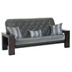 Big Tree Furniture Cleo Futon Frame and Mattress with 3 Pillows