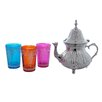 <strong>Moroccan Teapot with 3 Tea Glasses</strong> by Divine Designs