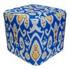 <strong>Divine Designs</strong> Ikat Pouf Ottoman