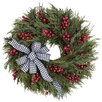 <strong>Urban Florals</strong> Holiday Houndstooth Holiday Wreath