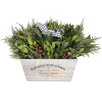 <strong>Urban Florals</strong> Holiday Houndstooth Desk Top Plant in Planter