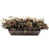 Urban Florals Holiday Copper Sparkle Desk Top Plant in Planter