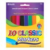 <strong>10 Classic Colors Broad Line Jumbo Watercolor Marker Set</strong> by Bazic