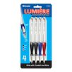 Bazic Lumiere Retractable Pen (Set of 4)