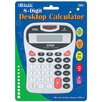 <strong>Bazic</strong> 8-Digit Silver Desktop Calculator with Tone (Set of 48)