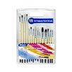 Bazic Assorted Size Paint Brushes (Set of 15)