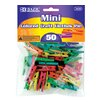 Bazic 50 Ct. Mini Colored Clothespins Set