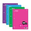 <strong>120 Ct. 3-Subject Spiral Notebook (Set of 24)</strong> by Bazic