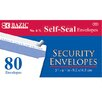 Bazic 80 Ct. Self-Seal Security Envelopes (Set of 24)