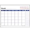 Bazic Undated 12-Months Desk Pad Calendar (Set of 48)