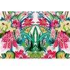 Betsy Drake Interiors Garden Multi Florals Door Mat