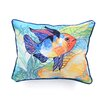 <strong>Betsy Drake Interiors</strong> Coastal Two Fish Indoor / Outdoor Pillow