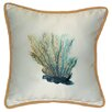 Betsy Drake Interiors Coastal Coral Indoor / Outdoor Pillow