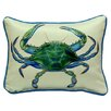 Betsy Drake Interiors Coastal Male Crab Indoor / Outdoor Pillow