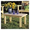 <strong>Rustic Natural Cedar Furniture</strong> English Garden Coffee Table