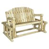 <strong>Rustic Natural Cedar Furniture</strong> Log Style Wood Garden Bench