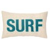 Peking Handicraft Nautical Applique Surf Throw Pillow