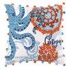 Peking Handicraft Jennifer Brinley Embroidery North Shore Octopus Pillow