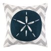 Peking Handicraft Nautical Embroidery Sand Dollar Pillow