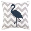 <strong>Peking Handicraft</strong> Nautical Embroidery Flamingo Pillow
