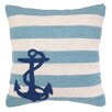 <strong>Peking Handicraft</strong> Nautical Hook Anchor Stripes Pillow
