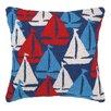 Peking Handicraft Nautical Hook Sailboats Away Pillow