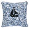 Peking Handicraft Nautical Hook Sailing on the Sea Pillow