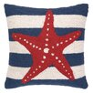 Peking Handicraft Nautical Hook Seastar Stripe Pillow