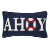 Peking Handicraft Nautical Hook Ahoy Pillow