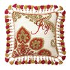 <strong>Joy Christmas Manor Needlepoint Pillow</strong> by Peking Handicraft