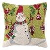Peking Handicraft Ornament Snowman Hook Pillow