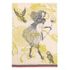 Peking Handicraft Lady with Owl Kitchen Towel