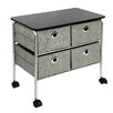 "Richards Homewares 23.75"" 4 Drawer Eyelet Cart"