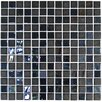 "<strong>Onix USA</strong> Stone Glass Opalo 1"" x 1"" Mosaic in Black"